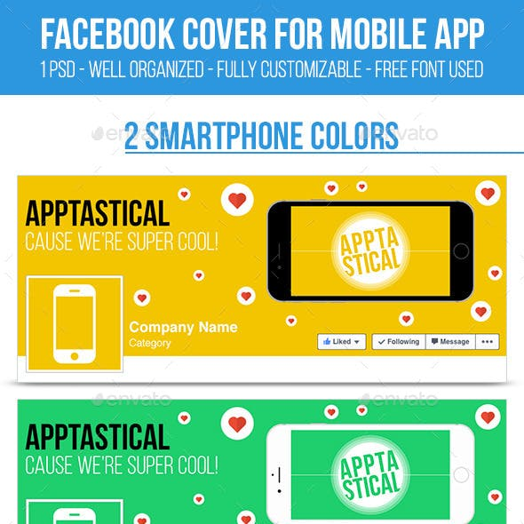 Facebook Cover for Mobile App - Set 01