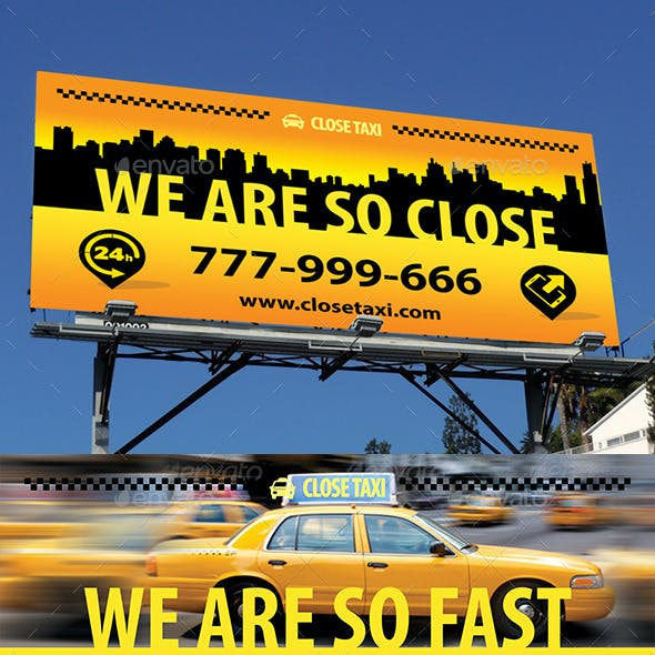 Taxi Cab Service Outdoor Banner 53
