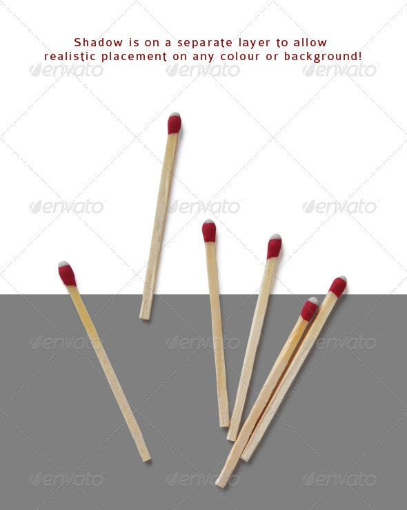 Wooden Matches - Industrial & Science Isolated Objects