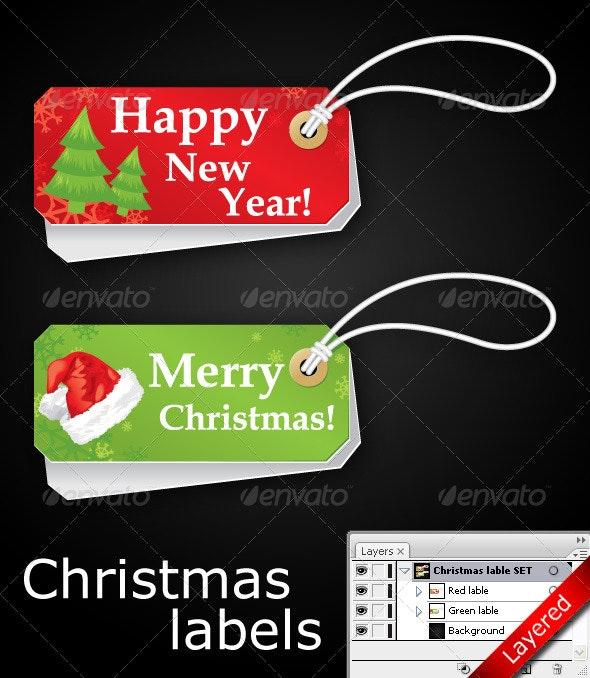 Vector Christmas Label - Christmas Seasons/Holidays