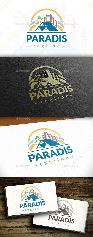 Paradise Logo - Buildings Logo Templates