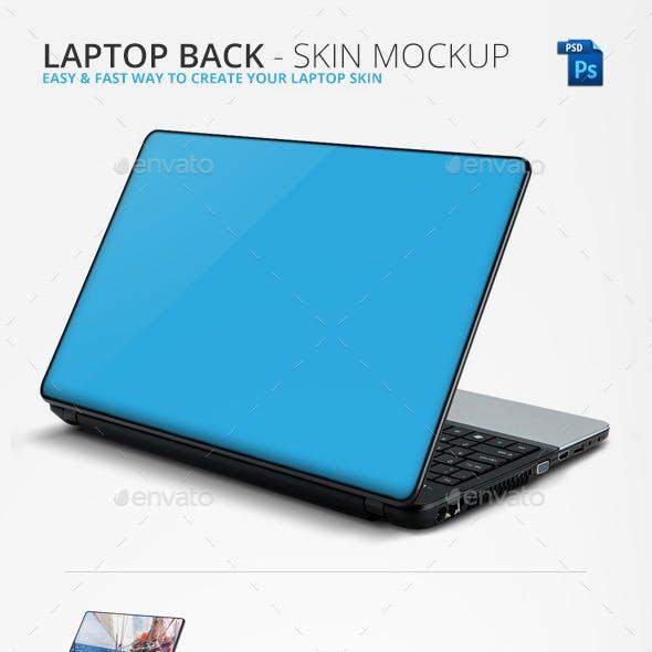 Laptop Back - Skin Mockup