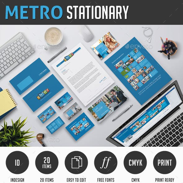 Metro Corporate Identity Stationary