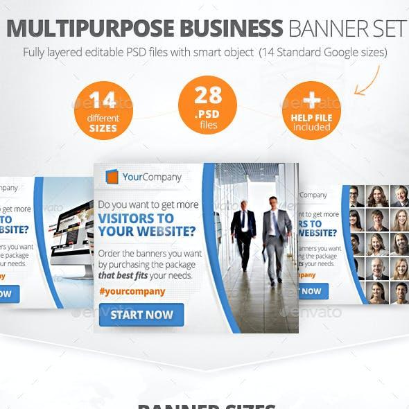 Multipurpose Business Banner Set