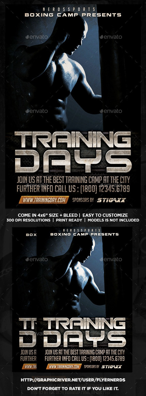 Boxing Training Camp Sports Flyer - Sports Events