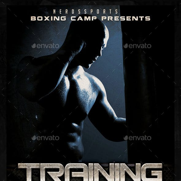 Boxing Training Camp Sports Flyer