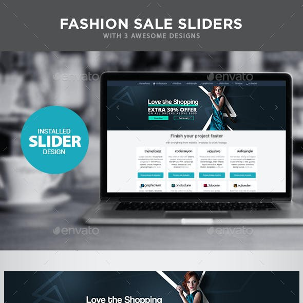 Fashion Sale Sliders - 3 Designs