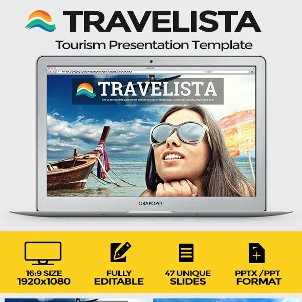Travelista Tourism Presentation Template