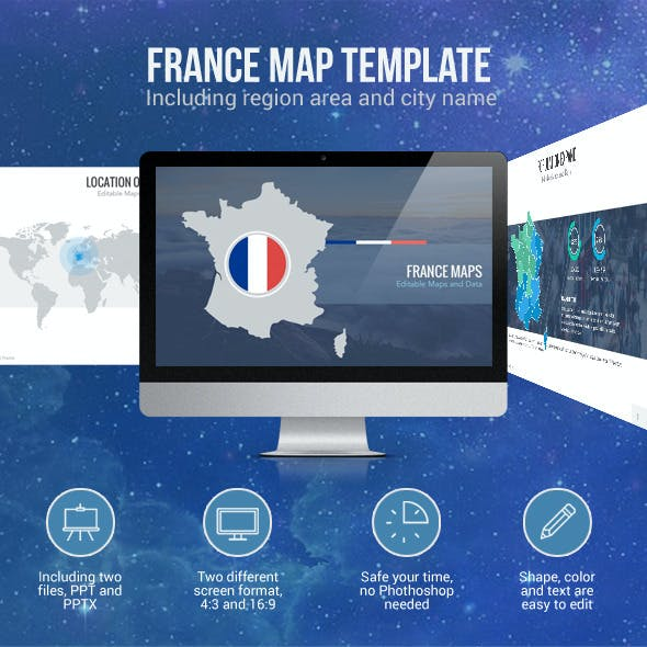 France Map - Editable Map Presentation