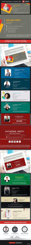 Email Signature Templates - 10 Designs  - Miscellaneous Web Elements