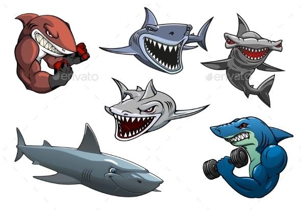 Cartoon Sharks - Animals Characters