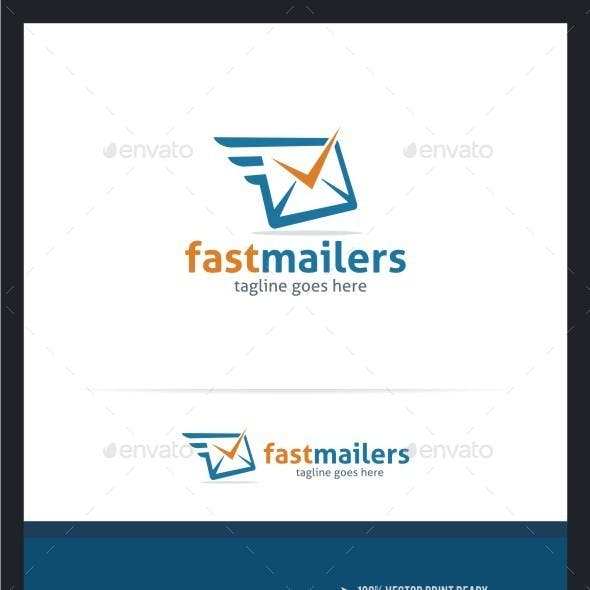 Fast Mailers Logo Template