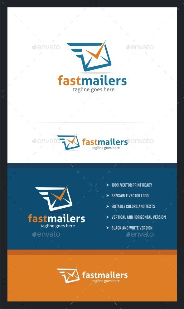 Fast Mailers Logo Template - Vector Abstract
