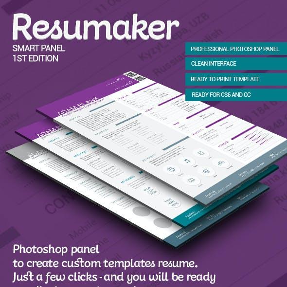 Resumaker Photoshop Panel