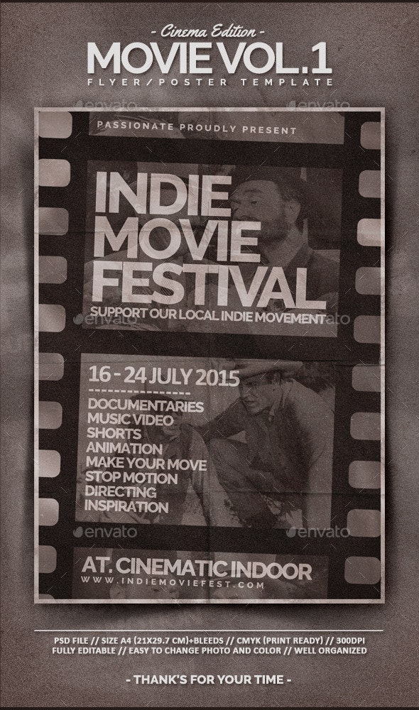 Movie Flyer Template Vol.1 - Miscellaneous Events
