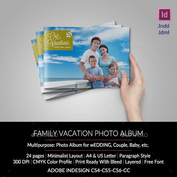 Family Vacation Photo Album