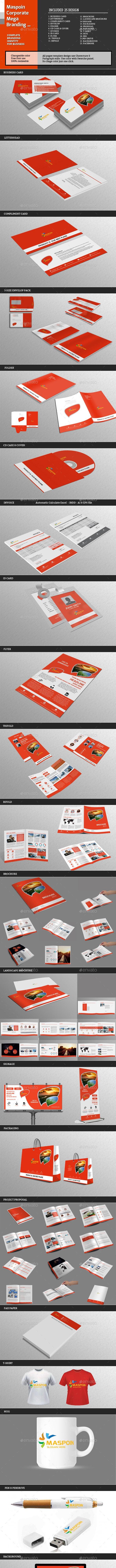 Maspoin Corporate Mega Branding - Stationery Print Templates