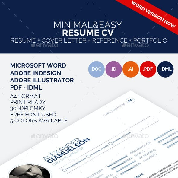 Minimal&Easy Resume Cv