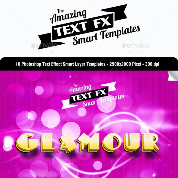 Text Effect Smart Object Templates