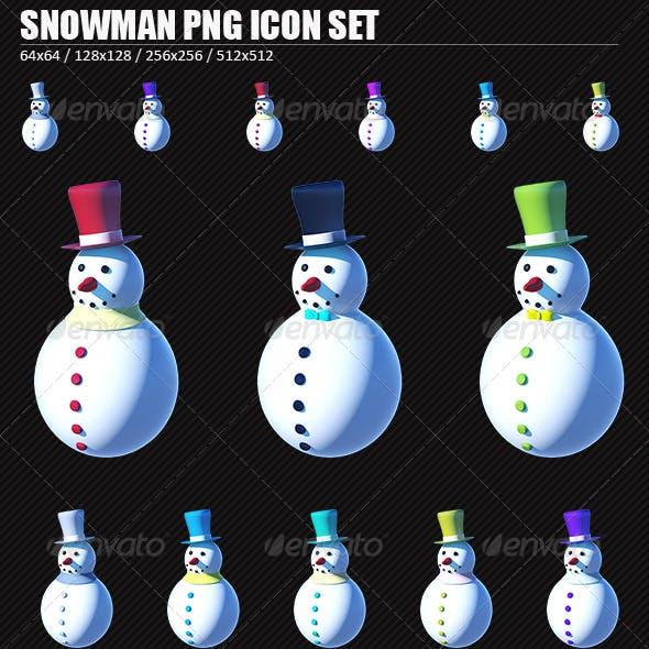 Snowman PNG Icon Set