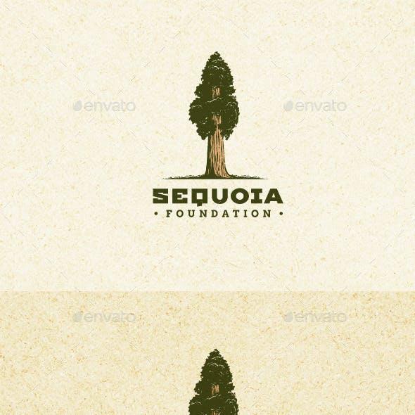 Sequoia Tree Outdoor Park Natural Logo