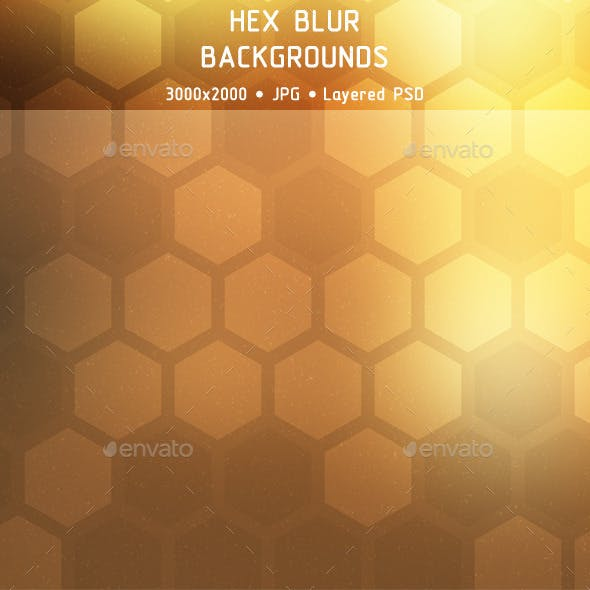 Hex Blur Backgrounds