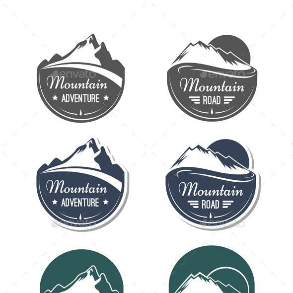 Mountain Design Elements Set