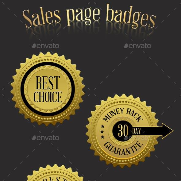 Sales Page Badges