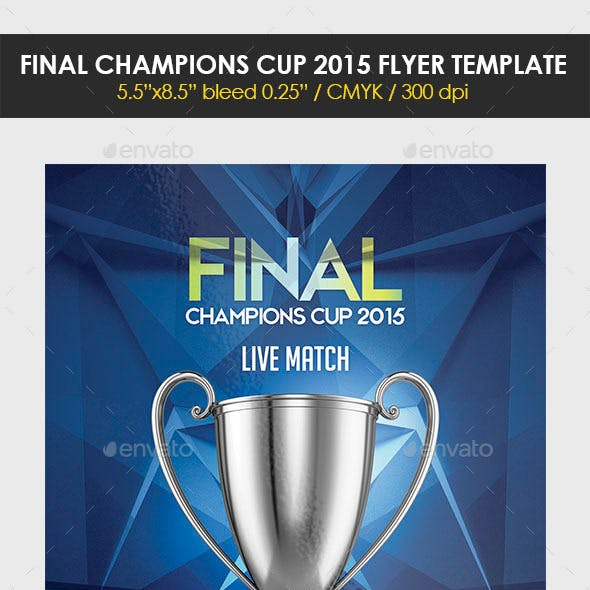 Final Champions Cup 2015 Flyer