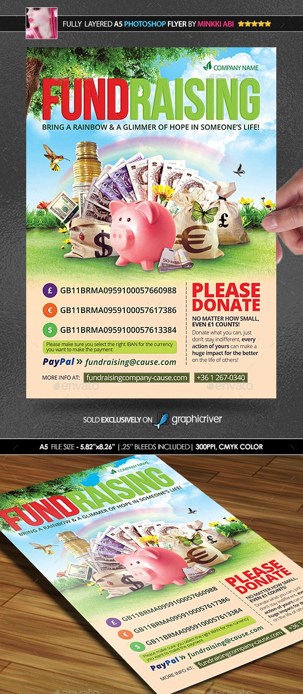 Fundraising Poster/Flyer - Flyers Print Templates