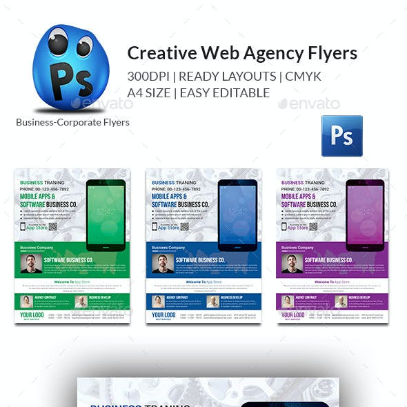 Creative Web Agency Flyers