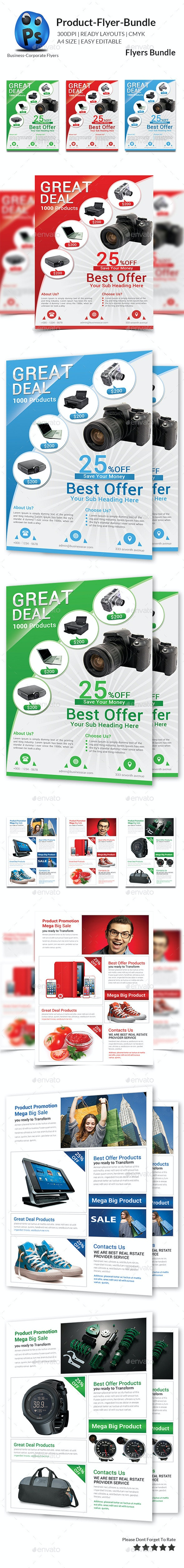Product Promotion Flyer Bundle - Corporate Flyers