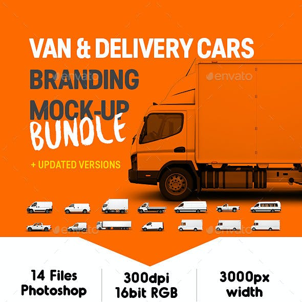 Van & Delivery Cars Branding Mockup Bundle