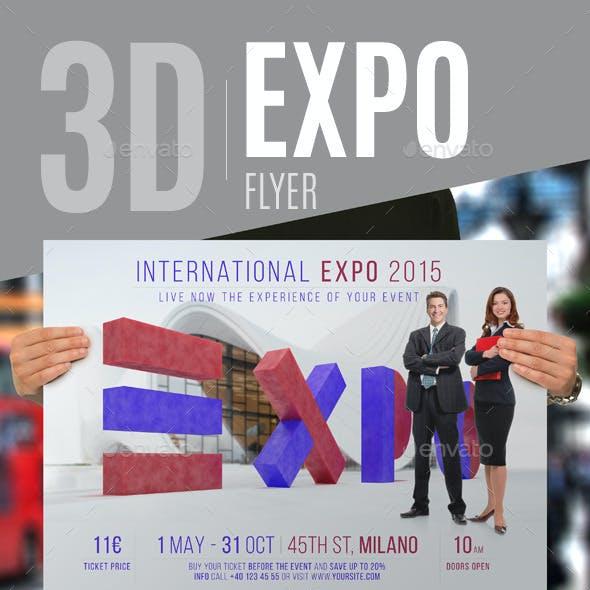 3D Expo Flyer