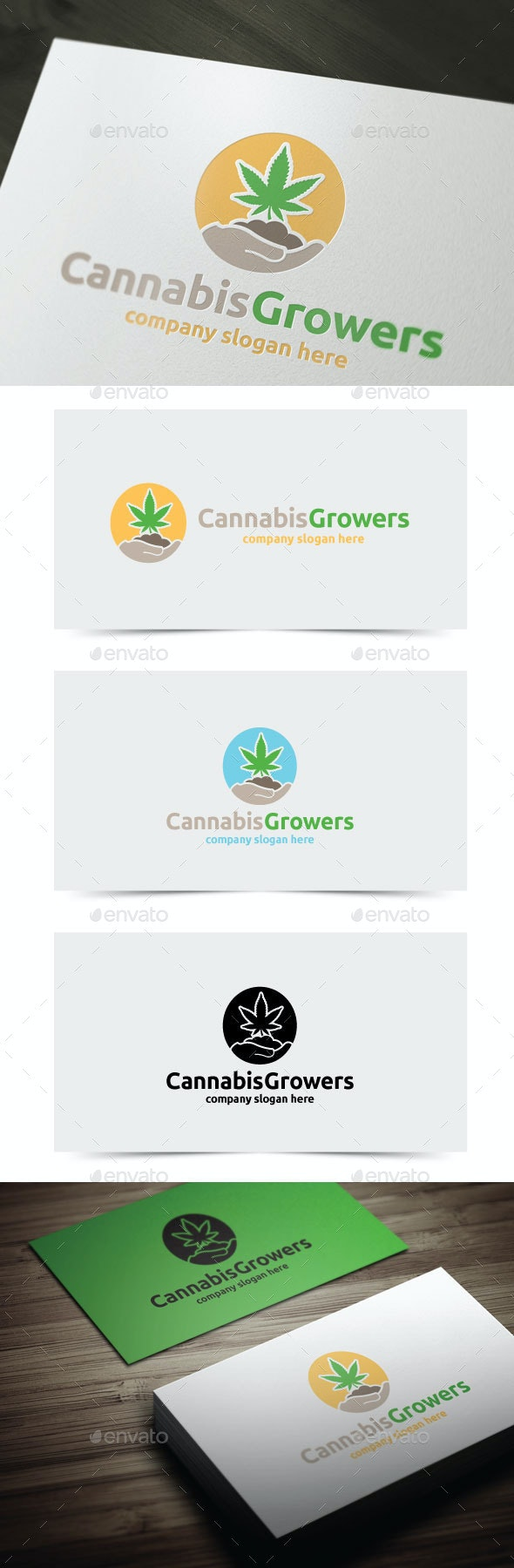 Cannabis Growers - Objects Logo Templates