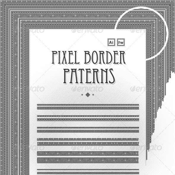 Pixel border patterns