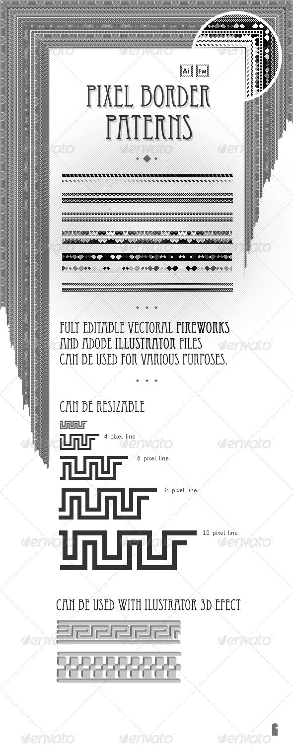 Pixel border patterns - Borders Decorative