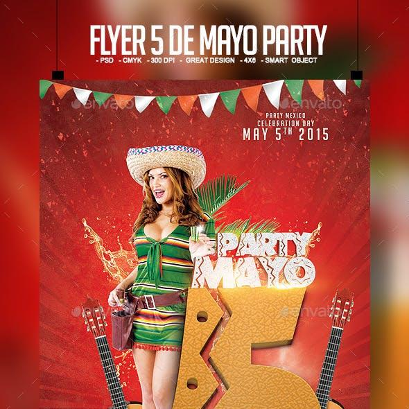 Flyer 5 de Mayo Party