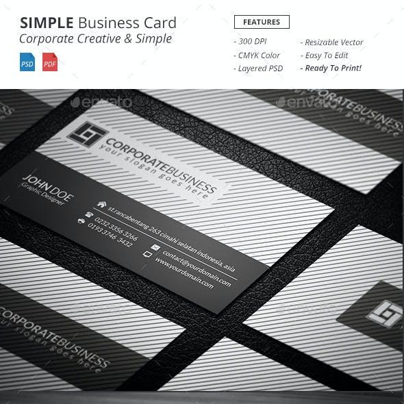 Simple - Corporate Business Card