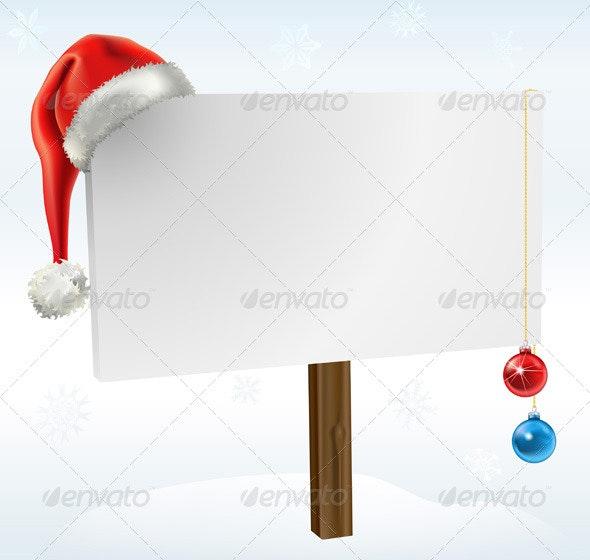 Christmas Sign - Christmas Seasons/Holidays