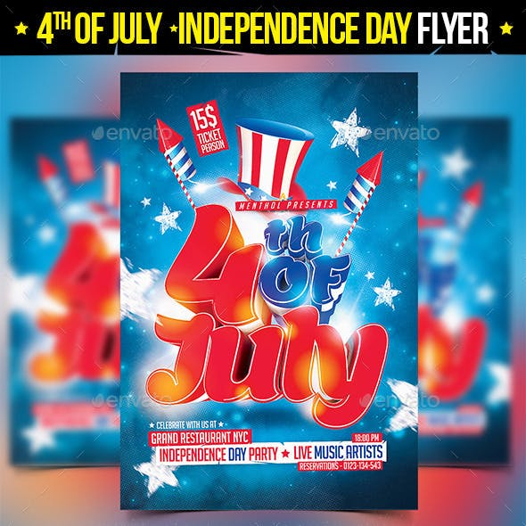4th of July Independence Day Flyer