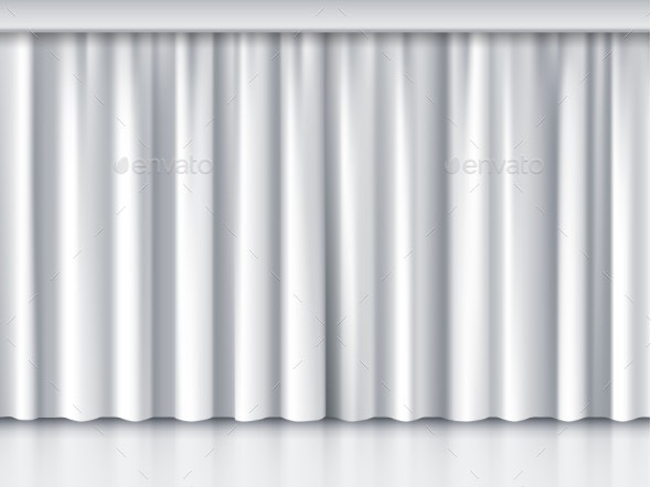White Stage Curtain - Miscellaneous Vectors