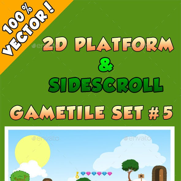 2D Platform & Sidescroll Tileset #5