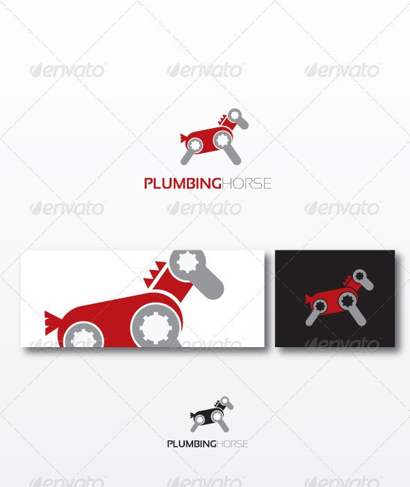Plumbing Horse Logo Template - Animals Logo Templates