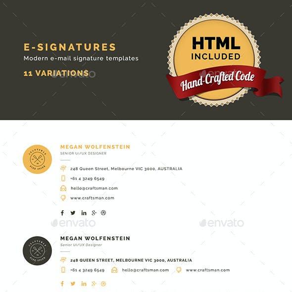 E-Signatures - Modern E-mail Signature Templates