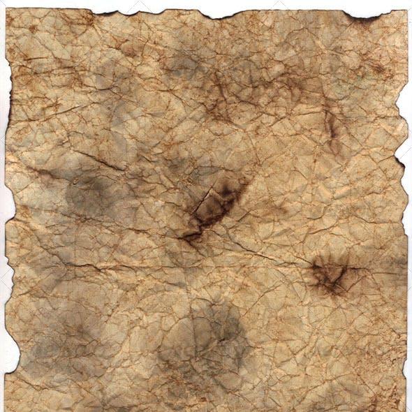 Dirty Wrinkled Burned Paper