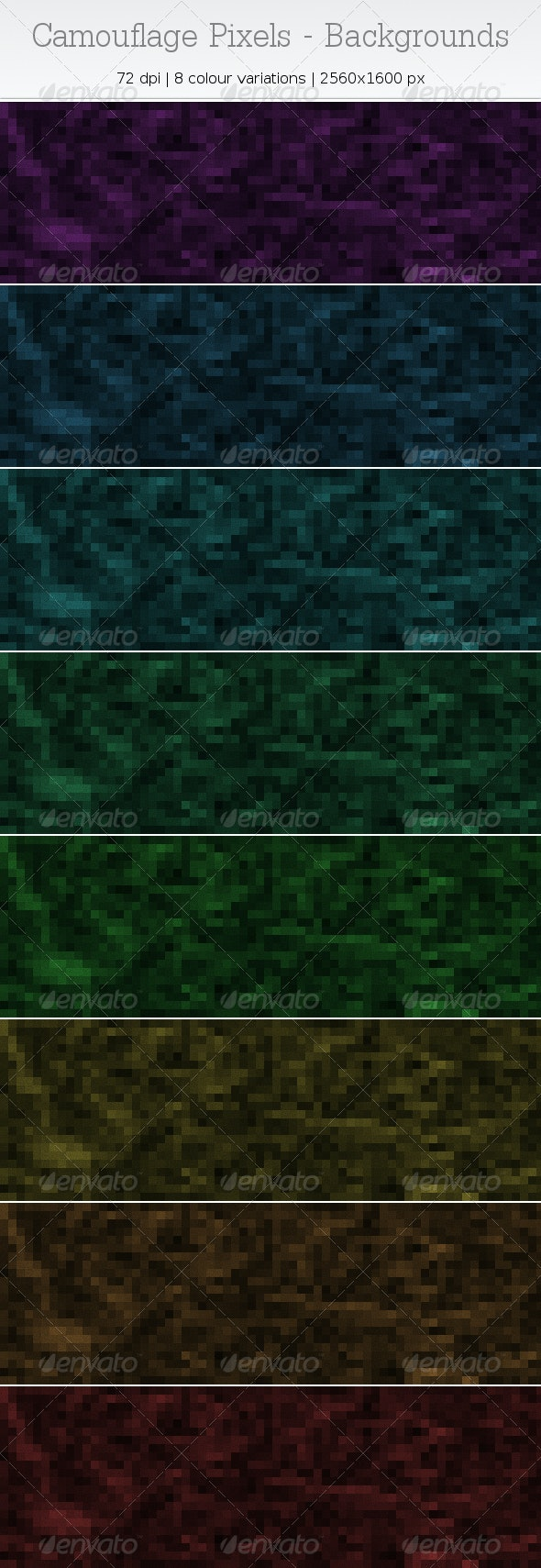Camouflage Pixels - Backgrounds - Abstract Backgrounds