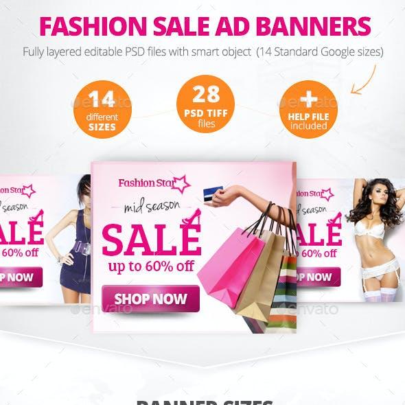 Fashion Sale Ad Banners
