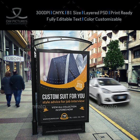 Tailor Fashion Poster Template
