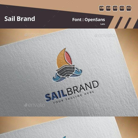 Sail Brand Logo Template